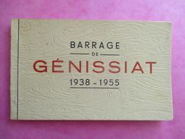 CARNET DE 11 CPA 01 GENISSIAT BARRAGE 1938-1955 - Génissiat