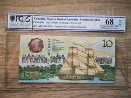 Australia 10 Dollar 1988 Reserve Bank Of Australia Banknote Pick # 49b PCGS 68 - Australia