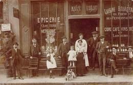 Carte-photo Maison ROBILLARD Verso Annick Lubet Epicier Avant 1920 Paris XIe ? - France