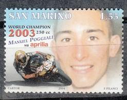 SAN MARINO 2003 - POGGLIALI CAMPEON DEL MUNDO DE MOTOCICLISMO - YVERT Nº 1929** - Oblitérés