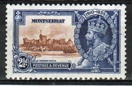Montserrat 1935 George V Single 2½d Stamp Issued To Celebrate Silver Jubilee. - Montserrat