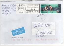 """Beau Timbre , Stamp """" Escrime """" Sur Lettre , Cover , Du 12/02/2019 Pour La France - Hongrie"""