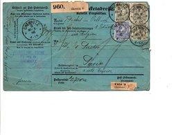 ALLEMAGNE EMPIRE AFFRANCHISSEMENT COMPOSE + TP TAXES SUR BULLETIN D'EXPEDITION DE COLIS POUR LA FRANCE 1886 - Allemagne