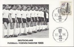 Deutschland Fussball Vizeweltmeister 1966, Mit Sonderstempel: Bonn 30.7.1966 - Football