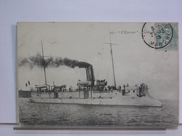 22 - L'EPERVIER CONTRE TORPILLEUR - 1905 - Warships