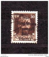 ITALY WW IIOCCUPATION 1944 FRANCE BASE  ATLANTICA  30c - Eastern Africa