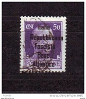 ITALY WW IIOCCUPATION 1944 FRANCE BASE  ATLANTICA  50c - Eastern Africa