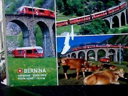SUISSE Svizzera Brusio Il Viadotto Ferroviario ELICOIDALE E TRENO TRAIN  V2017 HM6355 - TI Tessin