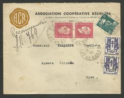 LOT ET GARONNE / Recommandé Provisoire SOS 13.09.1945 / Affr. Chaine - Marianne De Dulac & Gandon - Postmark Collection (Covers)
