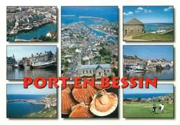 14 - Port En Bessin - Multivues - Coquilles Saint Jacques - Carte Neuve - Voir Scans Recto-Verso - Port-en-Bessin-Huppain