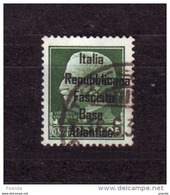 ITALY WW IIOCCUPATION 1944 FRANCE BASE  ATLANTICA  25c - Eastern Africa