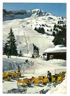 74 MEGEVE N°10 La Côte 2000 Le Remonte Pente Et Les Pistes Chaises Longues Skis - Megève