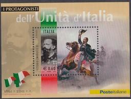 ITALIA REPUBBLICA 2011 UNITA' D'ITALIA : VITTORIO EMANUELE II  FOGLIETTO N. 78 NUOVO GOMMA INTEGRA - 2011-...: Neufs
