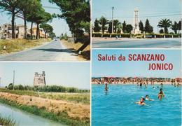 SCANZANO JONICO - VEDUTINE MULTIVUES - MONUMENTO - SPIAGGIA ANIMATA - NON VIAGGIATA - Other Cities