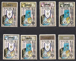 Rwanda Ruanda 1980 OBCn° 969-976 *** MNH  Cote 3,75 Euro 75° Anniversaire Rotary - 1980-89: Nuevos