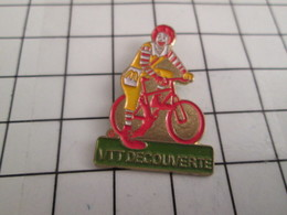 513K Pin's Pins / Beau Et Rare / THEME : McDONALD'S / VTT DECOUVERTE RONALD McDONALD - McDonald's