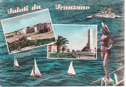 SCANZANO JONICO - VEDUTINE MULTIVUES - PANORAMA E LA MADONNINA - ACQUERELLATA - VIAGGIATA 1971 - Other Cities