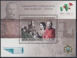 SAN MARINO 2011 150°  GARIBALDI  FOGLIETTO N. 106  NUOVO GOMMA INTEGRA - Unused Stamps