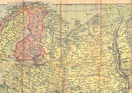 Carte Géographique RUSSIE D'EUROPE Editions FOLDEX Echelle 1/6.000.000ème - Cartes Géographiques