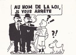 Tintin Lot De 11 Cartes Reproduction De Cases Hergé - Bandes Dessinées