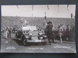 Postkarte Hitler Reichsparteitag Nürnberg Mit HJ Und SS - Germany