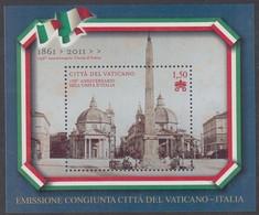 VATICANO 2011 150°  UNITA' D'ITALIA   FOGLIETTO N. 100  NUOVO GOMMA INTEGRA - Unused Stamps