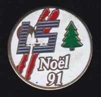 63675-Pin's.L5.Noel 91.sapin. - Navidad