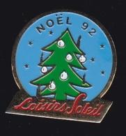 63676-Pin's.Loisirs Soleil.Noel 92.sapin. - Navidad