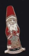 63679-Pin's-Père Noel .Chocolat.Chocofrance. - Navidad