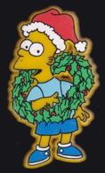 63683-Pin's-Simpson's.Pere Noel.signé Matt Groening. - Navidad