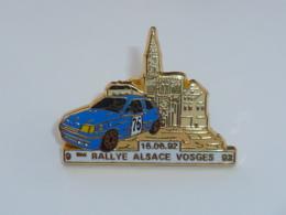Pin's ARTHUS BERTRAND, RALLYE ALSACE - VOSGES, BLEU - Arthus Bertrand