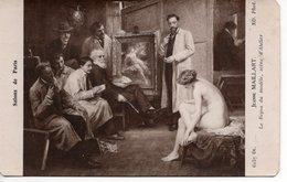 MAILLART JEANNE - LE REPOS DU MODÈLE - SCÈNE D'ATELIER - SALONS DE PARIS - Schilderijen