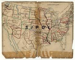 Carte Géographique  Dessinée Sur Papier  Par Un Petit Alsacien Né En 1862 : Etats D Amérique Du Nord  Etat D âge - Cartes Géographiques
