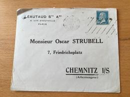 FL3525 France 1929 Lettre De Paris Pour Chemnitz - France