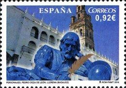 España 2014 Edifil 4851 Sello ** Aniversario Del Nacimiento De Pedro Cieza De Leon Llerena (Badajoz) 0,92€ Spain Stamps - 1931-Hoy: 2ª República - ... Juan Carlos I
