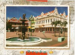 The Main Square, Aruba (Nederlandse Antillen) Written Uncirculated Postcard From Aruba Island. - Aruba
