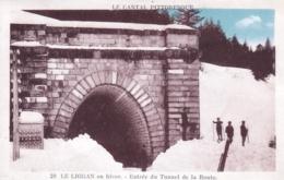 15 - Cantal - LE LIORAN - Laveissiere - En Hiver - Entrée Du Tunnel De La Route - France