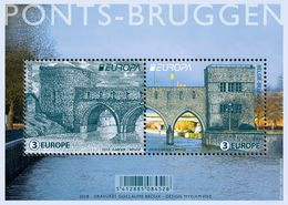Europa Cept - 2018 - Belgie, Belgien - 1.Mini S/Sheet - (Bridges) ** MNH - 2018