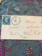 TIMBRE SUR LETTRE NIII 20C BLEU   N°22.CAD  TYP 22..LAURIÉRE 14 MAI 63 (81) LOS GROS CHIFFRES 1929 .CACHET A - 1862 Napoléon III