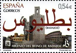 España 2014 Edifil 4868 Sello ** Milenario Reino De Badajoz 0,54€ Spain Stamps Timbre Espagne Briefmarke Spanien - 1931-Today: 2nd Rep - ... Juan Carlos I