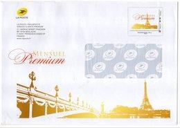 PAP 250g Entier Postal Phil@poste Mensuel Premium Tour Eiffel Pont - Pseudo-interi Di Produzione Ufficiale
