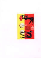 Carton Publicitaire Style CP Circulé Bassani Italie Produits Danor Licence Ticino Distributeur Socfret Romainville Seine - Cartes Postales
