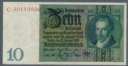 Pick 180a Ro 173a DEU-183a  10 Mark 1929 UNC - 10 Mark