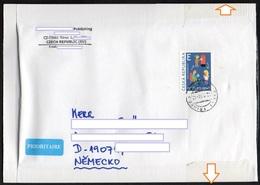 Tschechische Republik 2015  Brief/ Lettre  Europa ; MiNr. 857 Postkreislauf   ; Postage International 3.70€ !! - Tschechische Republik