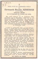 Bidprent - Umans Adriaan - Broeder Adhemar (+ Mortsel 1949) - Images Religieuses