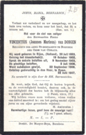 Bidprent - Van Dongen Vincentius (Rijen 1883 - Rome 1907): Religieus Der Abdij St Bernards Te Bornhem / Bornem - Andachtsbilder