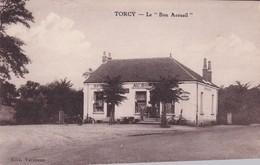 TORCY 71 LE BON ACCUEIL EPICERIE RESTAURANT BELLE CARTE ANIMEE TRES RARE !!! - Autres Communes