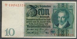 Pick 180 Ro 173a DEU-183a  10 Mark 1929 AUNC - 10 Mark