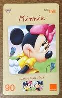 DISNEY MINNIE THAÏLANDE ORANGE RECHARGE GSM 90 PHONECARD CARTE TÉLÉPHONIQUE PRÉPAYÉE - Disney