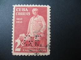 Perforé Perfin Lochung ,Cuba  See, à Voir   GE  9 - Otros